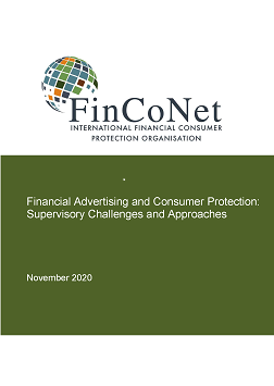 FinCoNet Report on Financial Advertising report cover page