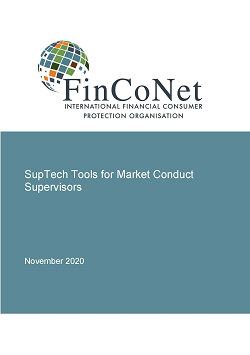 FinCoNet Report on SupTech Tools report cover page